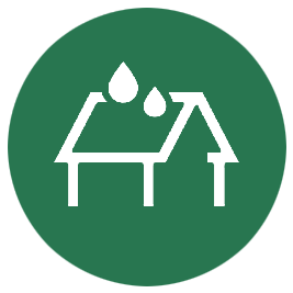 Roof cleaning icon