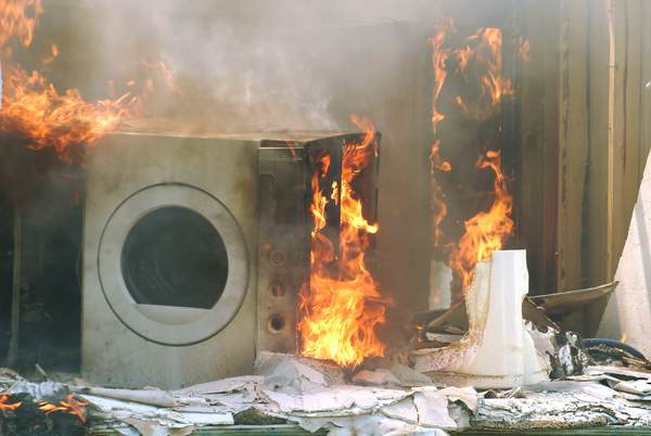Fire Caused by Dryer